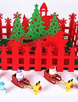 baratos -Natal Férias Poliéster Quadrada Novidades Decoração de Natal