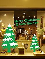 Недорогие -Оконная пленка и наклейки Украшение Рождество Геометрический принт ПВХ Cool
