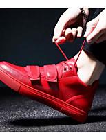Недорогие -Муж. Комфортная обувь Полиуретан Весна & осень Кеды Черный / Красный