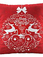 Недорогие -Наволочка Новогодняя тематика Фланелет Квадратный Мультипликация Рождественские украшения
