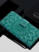 Недорогие -Кейс для Назначение Huawei P20 Pro / P20 lite Кошелек / Бумажник для карт / со стендом Чехол Цветы Твердый Кожа PU для Huawei P20 / Huawei P20 Pro / Huawei P20 lite