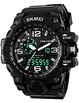 cheap -SKMEI Men's Women's Sport Watch Digital Watch Digital 30 m Water Resistant / Water Proof Calendar / date / day Chronograph Silicone Band Digital Casual Black - Red Green Blue / Noctilucent