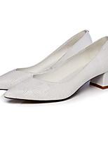 Недорогие -Жен. Комфортная обувь Наппа Leather Весна Свадебная обувь На толстом каблуке Белый / Черный / Свадьба