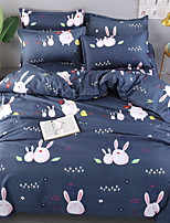 cheap -Duvet Cover Sets Geometric / Cartoon Polyster Printed 4 Piece