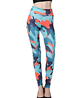 cheap -Women's Basic Legging - Camouflage High Waist