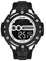 Недорогие -SMAEL Муж. Спортивные часы Японский Цифровой 50 m Защита от влаги Календарь Фосфоресцирующий Plastic Группа Цифровой Мода Черный - Черный / Красный Черный / Белый