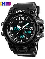 Недорогие -SKMEI Муж. Жен. Спортивные часы электронные часы Цифровой 30 m Защита от влаги Календарь Секундомер силиконовый Группа Цифровой На каждый день Черный - Черный Красный Синий / Фосфоресцирующий