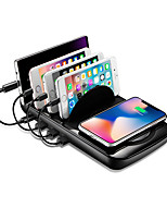 Недорогие -беспроводная зарядная станция для смартфонов и планшетов - быстрая беспроводная подставка для зарядного устройства, 2 в 1 зарядном устройстве USB и беспроводная зарядная панель (черный)