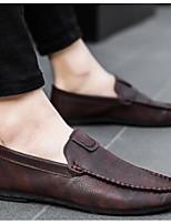Недорогие -Муж. Комфортная обувь Микроволокно Весна лето На каждый день Мокасины и Свитер Черный / Винный / Темно-коричневый
