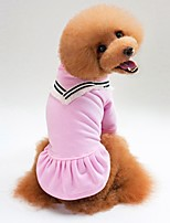 baratos -Cachorros / Gatos Súeters Roupas para Cães Sólido Preto / Rosa claro Algodão Ocasiões Especiais Para animais de estimação Unisexo Casual / Aquecimento