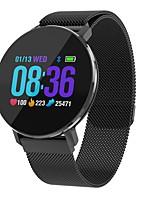 abordables -Bracelet à puce T5 pour Android iOS Bluetooth Sportif Imperméable Moniteur de Fréquence Cardiaque Mesure de la pression sanguine Ecran Tactile Podomètre Rappel d'Appel Moniteur d'Activité Moniteur de