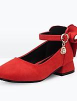 Недорогие -Девочки Обувь Искусственная кожа Весна & осень Детская праздничная обувь Обувь на каблуках для Дети / Для подростков Черный / Красный