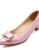 Недорогие -Жен. Комфортная обувь Полиуретан Весна Обувь на каблуках На низком каблуке Золотой / Белый / Розовый