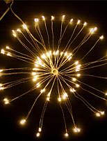 Недорогие -1шт LED Night Light / Светодиодные фонари фейерверков Тёплый белый / Белый / Цветной Аккумуляторы AA Водонепроницаемый / Дистанционно управляемый / Свадьба Батарея / <5 V