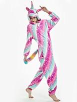 abordables -Adulte Pyjamas Kigurumi Cheval volant Combinaison de Pyjamas Flanelle Arc-en-ciel Cosplay Pour Pyjamas Animale Dessin animé Halloween Fête / Célébration / Noël