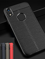 cheap -Case For Apple iPhone XS / iPhone XR Embossed Back Cover Solid Colored Soft TPU for iPhone XS / iPhone XR / iPhone XS Max