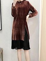 preiswerte -Damen Street Schick Etuikleid Kleid Solide Midi
