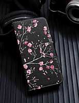 baratos -Capinha Para Huawei Y6 (2018) / Y6 (2017)(Nova Young) Carteira / Porta-Cartão / Com Suporte Capa Proteção Completa Flor Rígida PU Leather para Huawei Y6 (2018) / Huawei Y6 (2017)(Nova Young) / Huawei