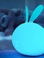 Недорогие -1шт LED Night Light USB Мультипликация / Меняет цвета / обожаемый 5 V