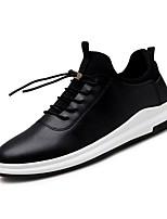 Недорогие -Муж. Комфортная обувь Искусственная кожа Осень На каждый день Кеды Дышащий Белый / Черный / на открытом воздухе