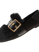 Недорогие -Жен. Комфортная обувь Полиуретан Осень На каждый день На плокой подошве На плоской подошве Черный / Хаки