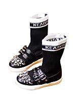 Недорогие -Девочки Обувь Полиуретан Осень Модная обувь Ботинки для Дети Белый / Черный