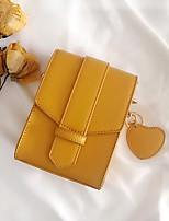Недорогие -Жен. Мешки PU Мобильный телефон сумка Пуговицы Черный / Желтый