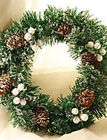 economico -Ornamenti di Natale Vacanza PVC Tonda Feste / Originale Decorazione natalizia