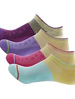 Недорогие -Жен. 4 пары Носки Легкость / Стреч для На открытом воздухе / Эластичная