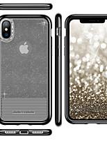 baratos -Capinha Para Apple iPhone X / iPhone XS Galvanizado / Ultra-Fina / Translúcido Capa traseira Sólido Macia TPU / PC para iPhone XS / iPhone X