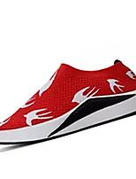 abordables -Homme Chaussures de confort Maille / Tissu élastique Automne Décontracté Mocassins et Chaussons+D6148 Ne glisse pas Couleur Pleine Noir / Gris / Rouge