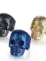 abordables -Homme Le style rétro / Sculpture Bague - Inoxydable Crâne Elégant, Rétro, Punk 7 / 8 / 9 Or / Noir / Bleu Pour Plein Air / Soirée