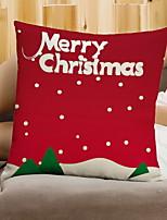 baratos -Fronha Natal / Férias Tecido de Algodão Rectângular Festa / Novidades Decoração de Natal