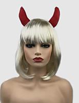 abordables -Perruques de cosplay / Perruque Synthétique Droit Blond Court Bob Cheveux Synthétiques 10 pouce Soirée / Synthétique Blond Perruque Femme Court Sans bonnet Blond Platine