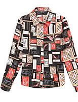 Недорогие -Жен. Рубашка Рубашечный воротник Шахматка