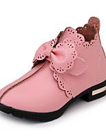 Недорогие -Девочки Обувь Полиуретан Зима / Наступила зима Модная обувь Ботинки Для прогулок Бант для Дети Черный / Красный / Розовый