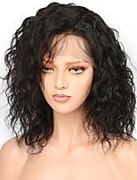 Недорогие -Натуральные волосы Лента спереди Парик Бразильские волосы / Бирманские волосы Волнистые Парик Стрижка боб 130% Женский / Легко туалетный / Лучшее качество Нейтральный Жен. Короткие