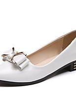 Недорогие -Жен. Балетки Полиуретан Осень Обувь на каблуках На низком каблуке Заостренный носок Белый / Черный / Розовый / Повседневные