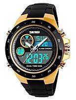 Недорогие -SKMEI Муж. Для пары Спортивные часы электронные часы Цифровой 50 m Защита от влаги Календарь Секундомер PU Группа Аналого-цифровые На каждый день Мода Черный / Зеленый - Черный Красный Золотистый