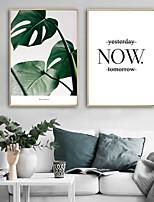 cheap -Framed Canvas / Framed Set - Botanical / Floral / Botanical Plastic Illustration