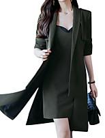 baratos -Mulheres Básico Conjunto Sólido Vestidos