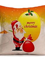 Недорогие -Наволочка Новогодняя тематика Полиэстер Квадратный Для вечеринок Рождественские украшения