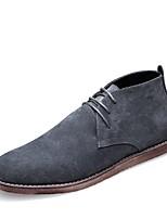 Недорогие -Муж. Комфортная обувь Замша Осень Кеды Черный / Серый / Миндальный