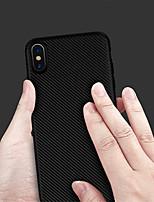billiga -fodral Till Apple iPhone XS / iPhone XR Läderplastik Skal Enfärgad Mjukt TPU för iPhone XS / iPhone XR / iPhone XS Max