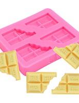 Недорогие -Инструменты для выпечки Силикон обожаемый / Новое поступление / 3D Торты / Для торта Прямоугольный Десерт Декораторы 1шт