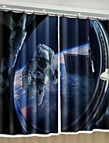 abordables -Rideaux 3D Chambre à coucher Géométrique Polyester Imprimé