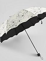 Недорогие -Ткань / Нержавеющая сталь Жен. Солнечный и дождливой Складные зонты