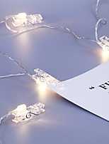 Недорогие -1,2 м Гирлянды 10 светодиоды Белый Cool Аккумуляторы AA 1шт