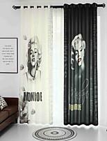 cheap -3D Curtains Bedroom Floral / Geometric Linen Reactive Print