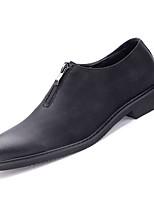 baratos -Homens Sapatos Confortáveis Couro Ecológico Outono Negócio Mocassins e Slip-Ons Não escorregar Preto